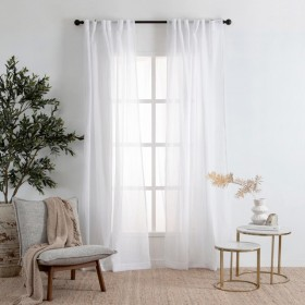 Marina-Sheer-White-Curtain-Pair-by-Habitat on sale