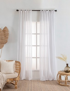 Washed-Linen-Sheer-Curtain-Pair-White on sale