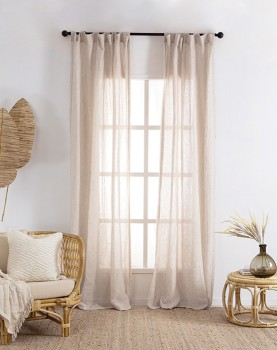 Washed-Linen-Sheer-Curtain-Pair-Natural on sale