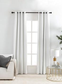 Malia-White-Blockout-Curtain-Pair-by-Habitat on sale