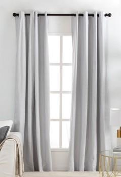 Malia-Silver-Blockout-Curtain-Pair-by-Habitat on sale