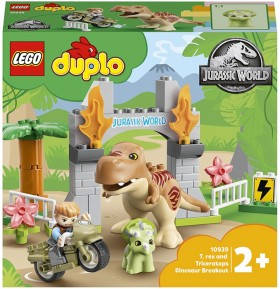 LEGO-Duplo-Jurassic-World-T-rex-and-Triceratops-Dinosaur-Breakout-10939 on sale