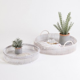 White-Washed-Hester-Tray-Round-by-MUSE on sale
