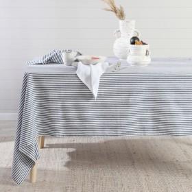 Catania-Stripe-Navy-Table-Linen-by-Habitat on sale