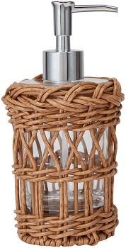 NEW-Rattan-Look-Soap-Dispenser on sale