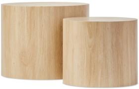 Set-of-2-Oak-Look-Tables on sale