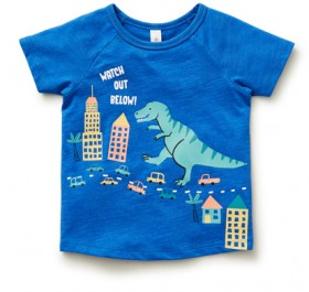 Dymples-Organic-Cotton-Tee-Blue on sale