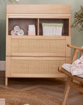 Childcare-Rattan-Drawer-Chest-and-Change-Table on sale