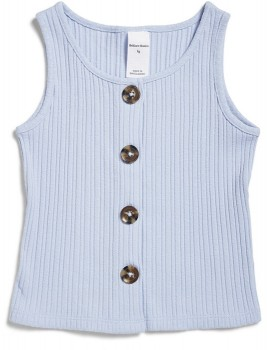Brilliant-Basics-Button-Up-Ribbed-Tank on sale