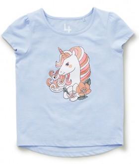 Brilliant-Basics-Kids-Organic-Cotton-Glitter-Tee-Blue on sale