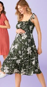 NEW-Brilliant-Basics-Maternity-Shirred-Dress on sale