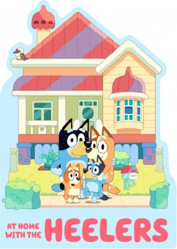 NEW-Bluey-At-Home-with-the-Heelers-A-Shaped-Board-Book on sale