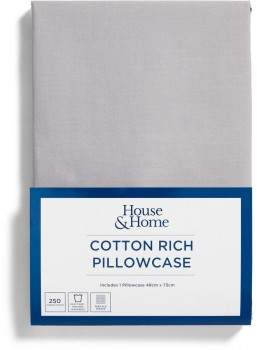 House-Home-250-Thread-Count-Cotton-Rich-Standard-Pillowcase on sale