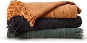 House-Home-Wash-Cotton-Linear-Throw-127cm-x-152cm on sale