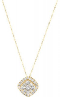 Cluster-Pendant-with-1-Carat-TW-of-Diamonds-in-10ct-Yellow-Gold on sale