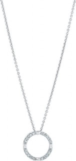 Circle-Pendant-with-Diamonds-in-Sterling-Silver on sale