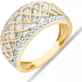 Pave-Ring-With-125-Carat-TW-Diamond-in-10ct-Yellow-Gold on sale