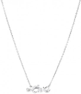 NEW-Love-Necklace-with-Diamonds-in-Sterling-Silver on sale