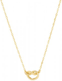 NEW-Overhand-Rope-Knot-Necklace-in-10ct-Yellow-Gold on sale