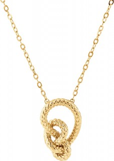 NEW-Mini-Knot-Rope-Necklace-in-10ct-Yellow-Gold on sale