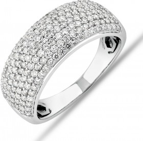 NEW-Diamond-Pave-Ring-with-100-Carat-TW-Diamond-in-10ct-White-Gold on sale