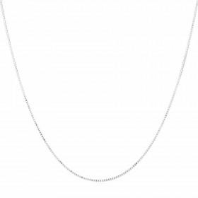 40cm-16-Box-Chain-in-10ct-White-Gold on sale