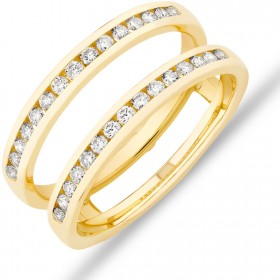 NEW-Enhancer-Ring-with-040-Carat-TW-Diamonds-in-14ct-Yellow-Gold on sale