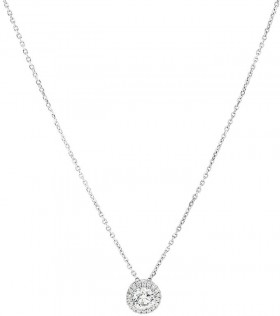 NEW-Sir-Michael-Hill-Designer-Halo-Pendant-with-Chain-with-045-Carat-TW-of-Diamonds-in-18ct-White-Gold on sale