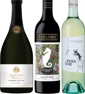 Jacobs-Creek-Reserve-Chardonnay-Pinot-Noir-Taylors-Promised-Land-or-Devils-Lair-Fifth-Leg-750mL-Varieties on sale