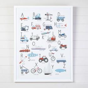 Kids-Transport-Alphabet-Framed-Wall-Art-by-Pillow-Talk on sale