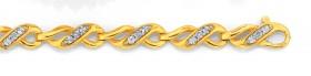 9ct-Gold-Diamond-Infinity-Link-Bracelet on sale