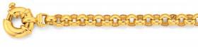 9ct-Gold-19cm-Solid-Belcher-Bolt-Ring-Bracelet on sale