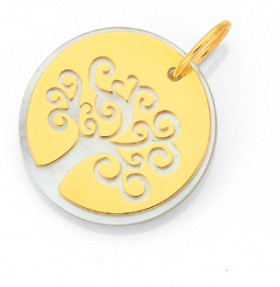 9ct-Gold-Mother-of-Pearl-Tree-of-Life-Pendant on sale