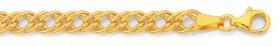 9ct-Gold-19cm-Double-Curb-Bracelet on sale