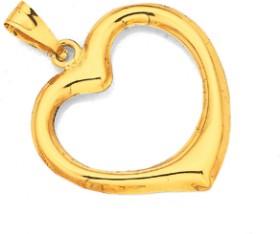 9ct-Gold-Open-Heart-Pendant on sale
