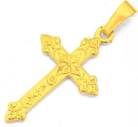 9ct-Gold-20mm-Celtic-Cross-Pendant on sale