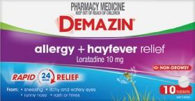 Demazin-Allergy-Hayfever-Relief-10-Tablets on sale