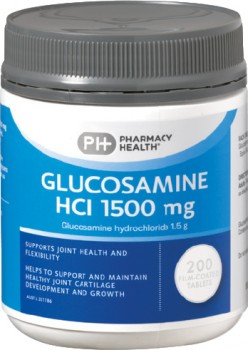 Pharmacy-Health-Glucosamine-HCI-1500-mg-200-Tablets on sale