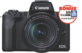 Canon-M50-Mark-II-with-EFM-15-45mm-Lens-Kit on sale