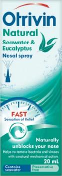 Otrivin-Natural-Seawater-Eucalyptus-Nasal-Spray-20mL on sale