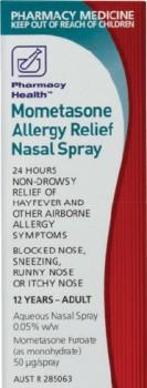 Pharmacy-Health-Mometasone-Allergy-Relief-Nasal-Spray-140-Metered-Sprays on sale
