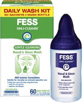 Fess-Sinu-Cleanse-Gentle-Cleansing-Nasal-Sinus-Daily-Wash-Kit-60-Sachets-Wash-Bottle on sale