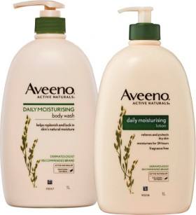 Aveeno-Daily-Moisturising-Body-Wash-or-Lotion-1L on sale