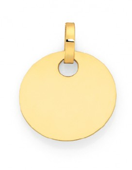 9ct-Gold-16mm-Round-Disc-Pendant on sale