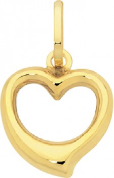 9ct-Gold-12mm-Open-Heart-Pendant on sale