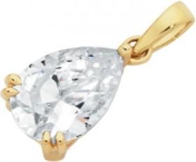 9ct-Gold-CZ-Pear-Shape-Pendant on sale