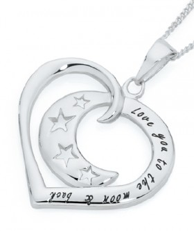 Sterling-Silver-Crescent-Moon-In-Open-Heart-Love-You-To-The-Moon-Back-Pendant on sale