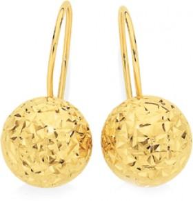9ct-Gold-Drop-Earrings on sale