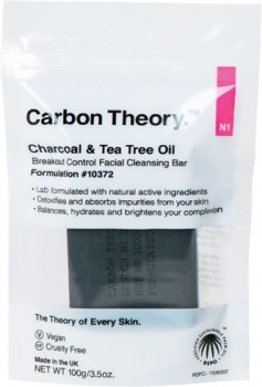 Carbon-Theory-Charcoal-Tea-Tree-Oil-Breakout-Control-Facial-Cleansing-Bar-100g on sale
