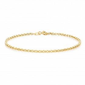 NEW-19cm-75-Belcher-Bracelet-in-10ct-Yellow-Gold on sale